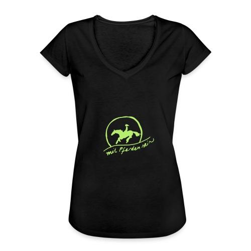 Sunset Rider, Woman Shirt ( Digital Apple Green) - Frauen Vintage T-Shirt