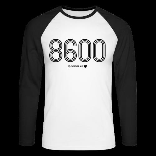 8600 Bamberg - Herren Baseball Langarmshirt - 100% Baumwolle - #KLEINSTADT - Männer Baseballshirt langarm