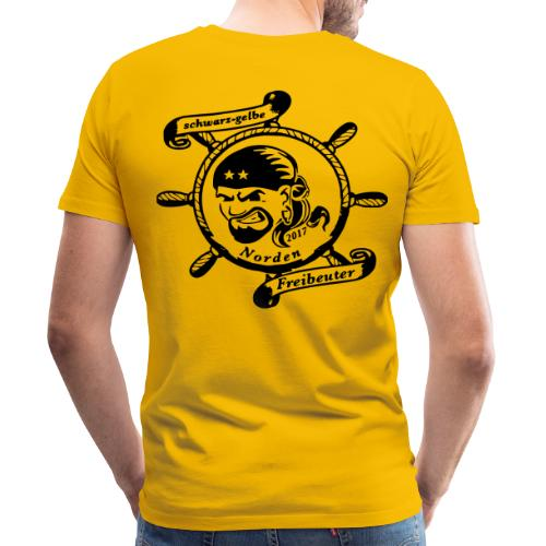 Männer Premium T-Shirt mit Logo auf dem Rücken (schwarz) - Männer Premium T-Shirt