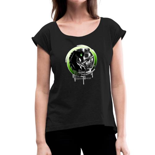 BMG Evil Horse - Frauen T-Shirt mit gerollten Ärmeln
