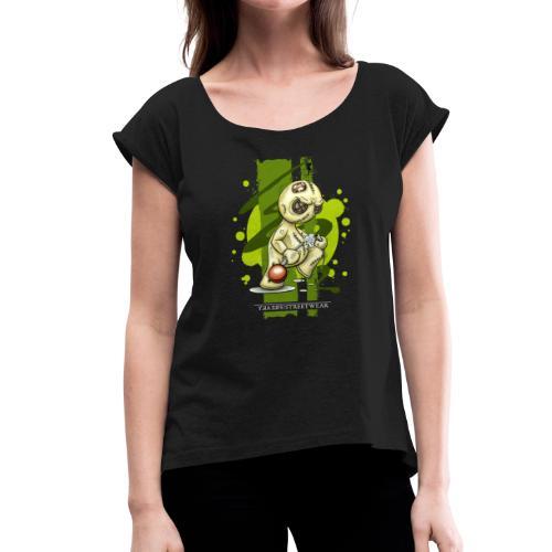 I quit - Frauen T-Shirt mit gerollten Ärmeln