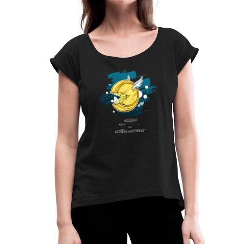 der fliegende Holländer - Frauen T-Shirt mit gerollten Ärmeln