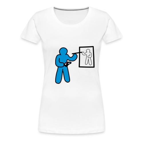 Artist Minimalist - Frauen Premium T-Shirt