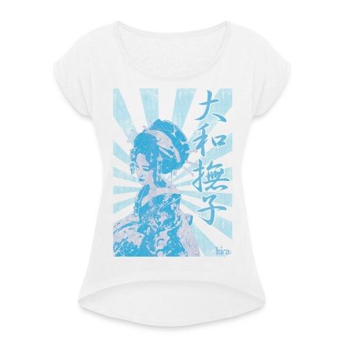 Yamatonadeshiko - Women's T-shirt with rolled up sleeves