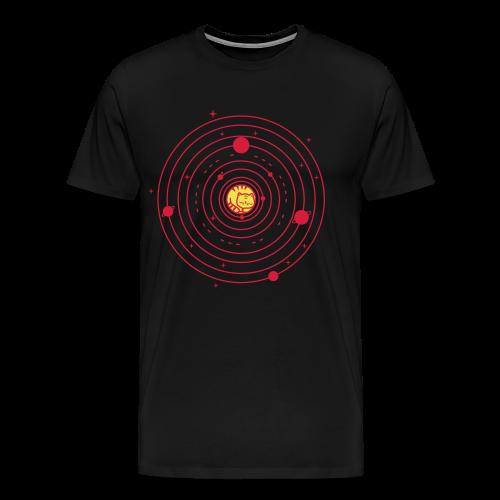 Katze Sonne Universum - Männer Premium T-Shirt