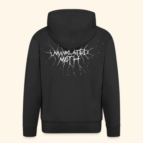 Immolated moth Logo zip hoodie - Men's Premium Hooded Jacket