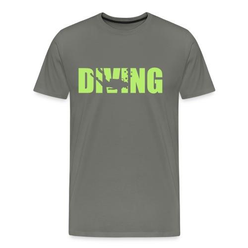 Diving - Logo Grün (m) - Männer Premium T-Shirt