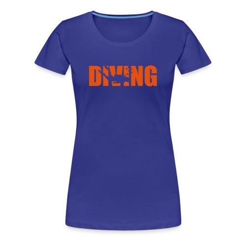 Diving - Logo Orange (w) - Frauen Premium T-Shirt