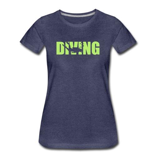 Diving - Logo Grün (w) - Frauen Premium T-Shirt