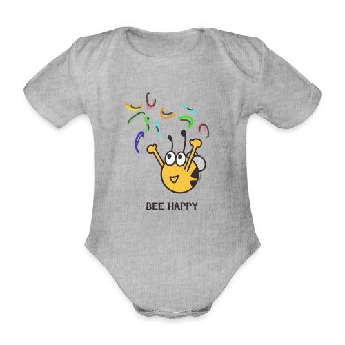 BEE HAPPY - Baby Bio-Kurzarm-Body