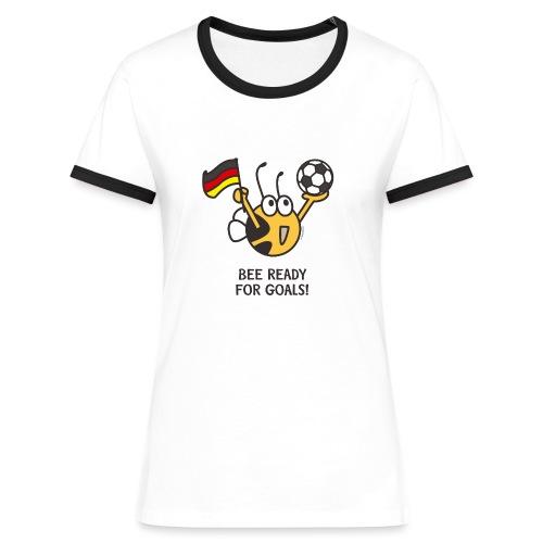 BEE READY FOR GOALS! - Frauen Kontrast-T-Shirt