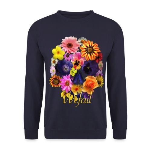 Flower Skull Sweatshirt - Men's Sweatshirt