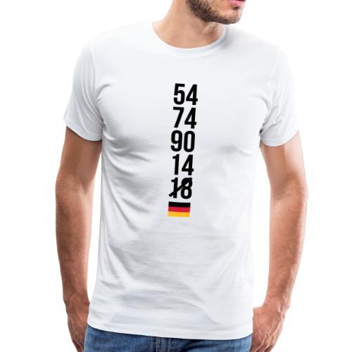 Niemcy nie mistrz świata 2018 – pierwsza runda Koszulki - Männer Premium T-Shirt