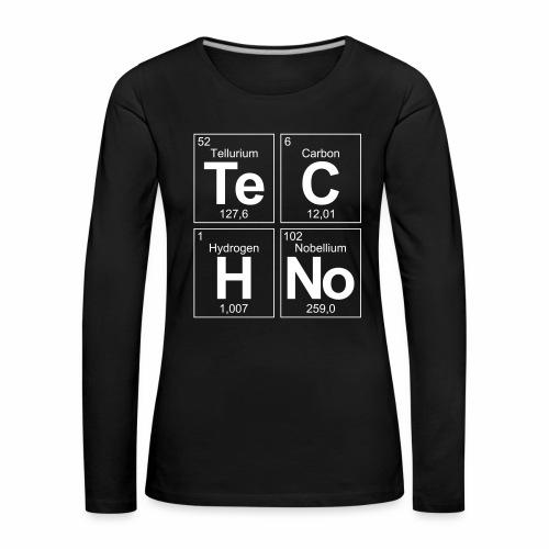 Techno Elemente - langarm Shirt - Frauen Premium Langarmshirt