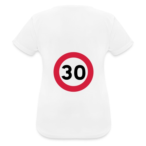 T-shirt sport avec panneau de limitation de vitesse à 30 km/h - T-shirt respirant Femme