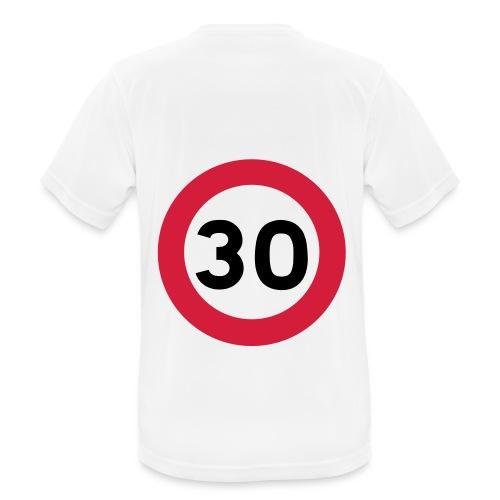 T-shirt sport avec panneau de limitation de vitesse à 30 km/h - T-shirt respirant Homme