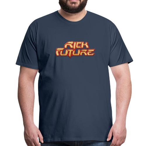 Rick Future 80s Logo, 100% Baumwolle Premium-T-Shirt ♂ - Männer Premium T-Shirt