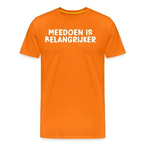 Meedoen is belangrijker - Mannen Premium T-shirt