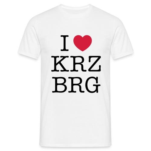 I love KRZBRG - Männer T-Shirt