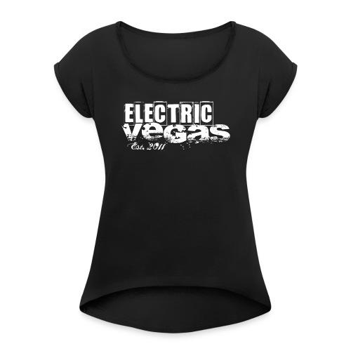 Logo est. 2011 - Frauen T-Shirt mit gerollten Ärmeln