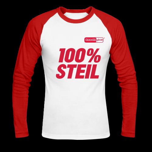 Smoothglide Männer Baseball Langarmshirt 100% Steil - Männer Baseballshirt langarm