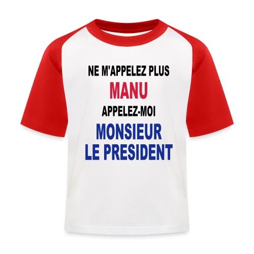 Manu Président - T-shirt baseball Enfant