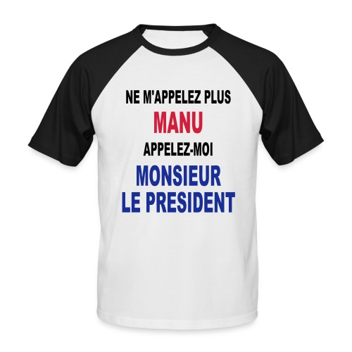Manu Président - T-shirt baseball manches courtes Homme
