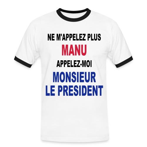 Manu Président - T-shirt contrasté Homme
