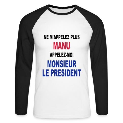 Manu Président - T-shirt baseball manches longues Homme
