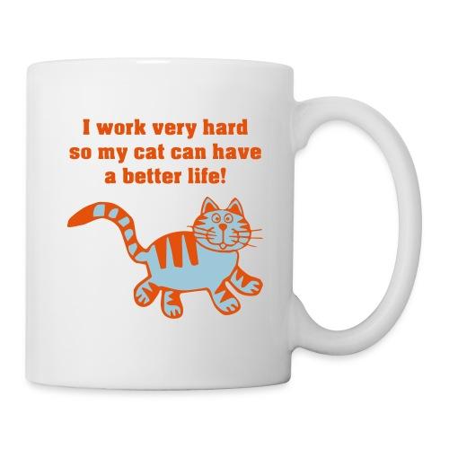 Work hard 4 cat - Mug blanc
