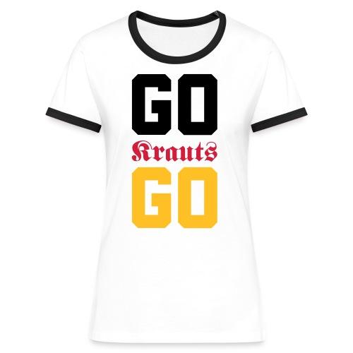 GO KRAUTS GO! - Frauen Kontrast-T-Shirt