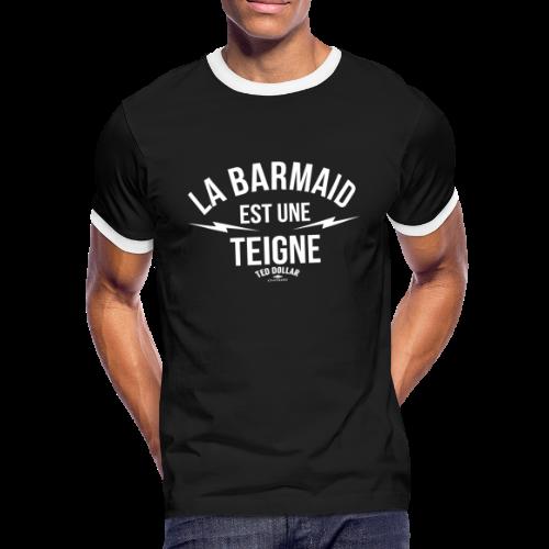 La Barmaid est une teigne - T-shirt contrasté Homme