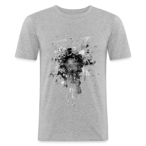 Black Splatterpoint - Männer Slim Fit T-Shirt