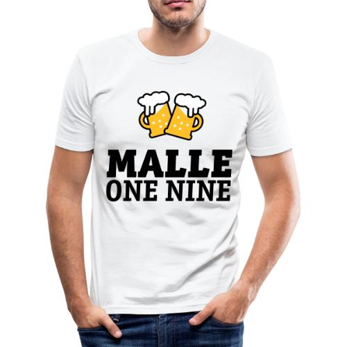 Malle 19-en nio T-shirts - Männer Slim Fit T-Shirt