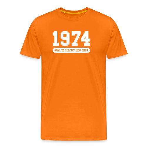 1974 was zo slecht nog niet - Mannen Premium T-shirt
