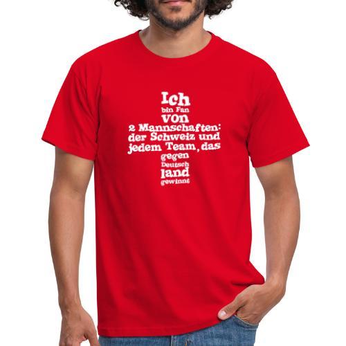 Herren T-Shirt  |  Fan von zwei Mannschaften - Männer T-Shirt
