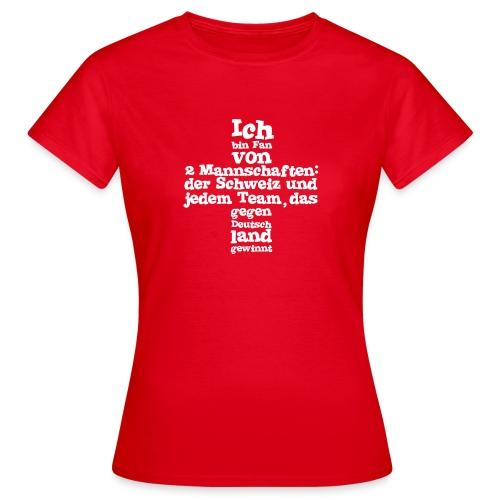 Damen T-Shirt     Fan von zwei Mannschaften - Frauen T-Shirt