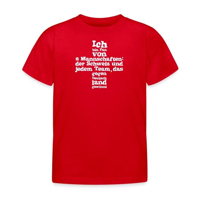 Kinder T-Shirt  |  Fan von zwei Mannschaften