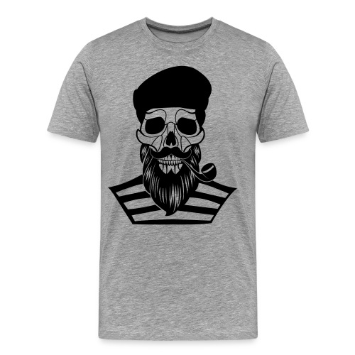 skull of old sailor - men - Männer Premium T-Shirt