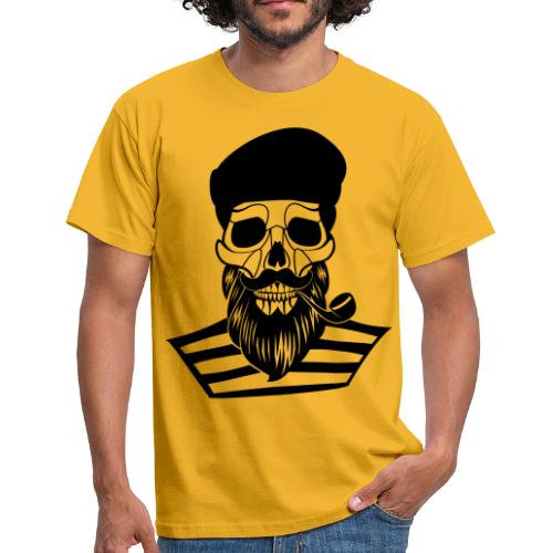 skull of old sailor - men - Männer T-Shirt