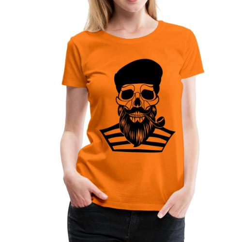 skull of old sailor - women - Frauen Premium T-Shirt