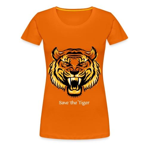 Save the Tiger - Frauen Premium T-Shirt