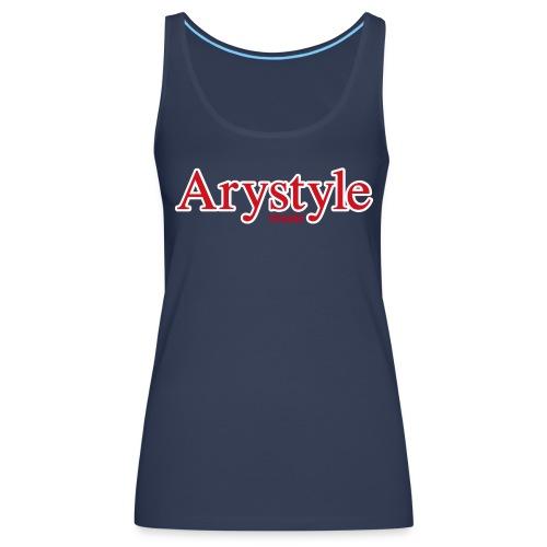 Debardeur Arystyle Rouge Contour - Débardeur Premium Femme