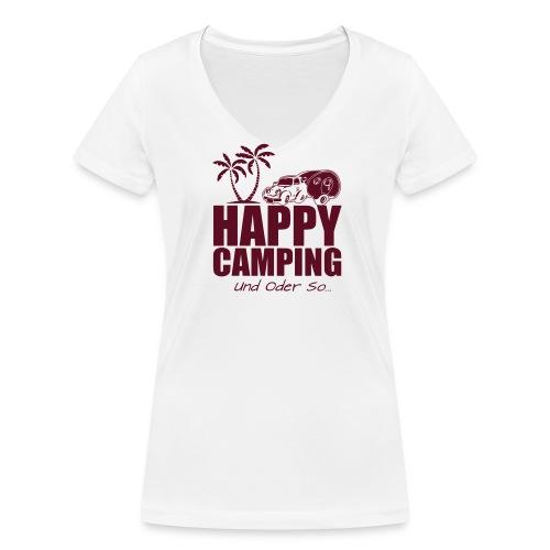 NEW HAPPY STYLE - WOMAN V-Shirt - alle Farben! - Frauen Bio-T-Shirt mit V-Ausschnitt von Stanley & Stella