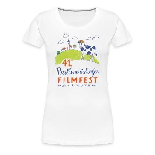 Frauen T-Shirt Rundhals, 2018 - Frauen Premium T-Shirt