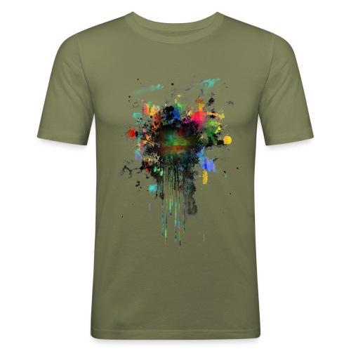 Fresh Colorful Splatterpoint - Männer Slim Fit T-Shirt