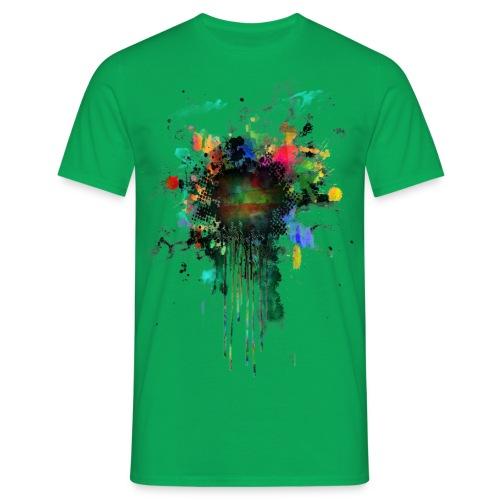 Fresh Colorful Splatterpoint - Männer T-Shirt