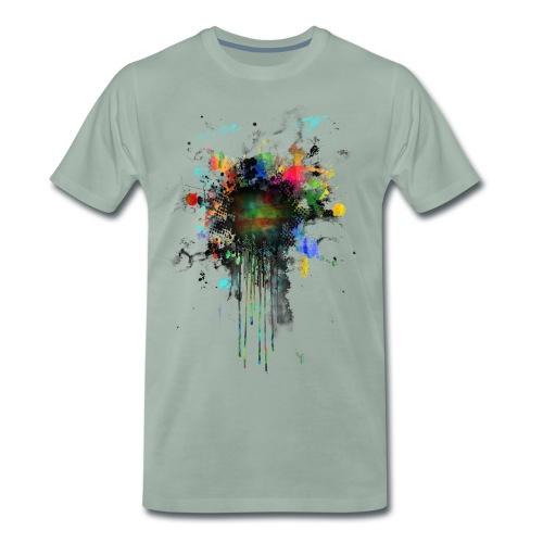 Fresh Colorful Splatterpoint - Männer Premium T-Shirt