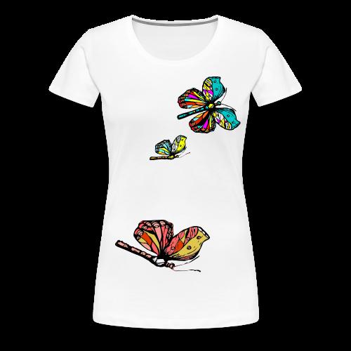 Frauen T- Shirt Schmetterlinge - Frauen Premium T-Shirt