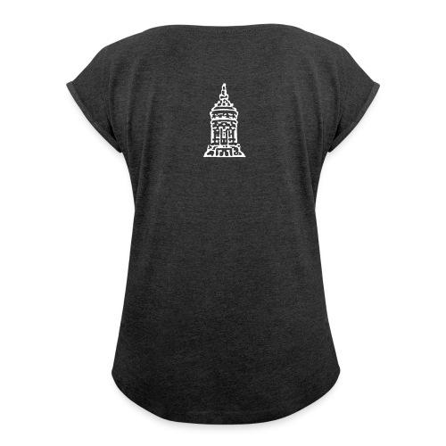 Wasserturm-Shirt - Frauen T-Shirt mit gerollten Ärmeln